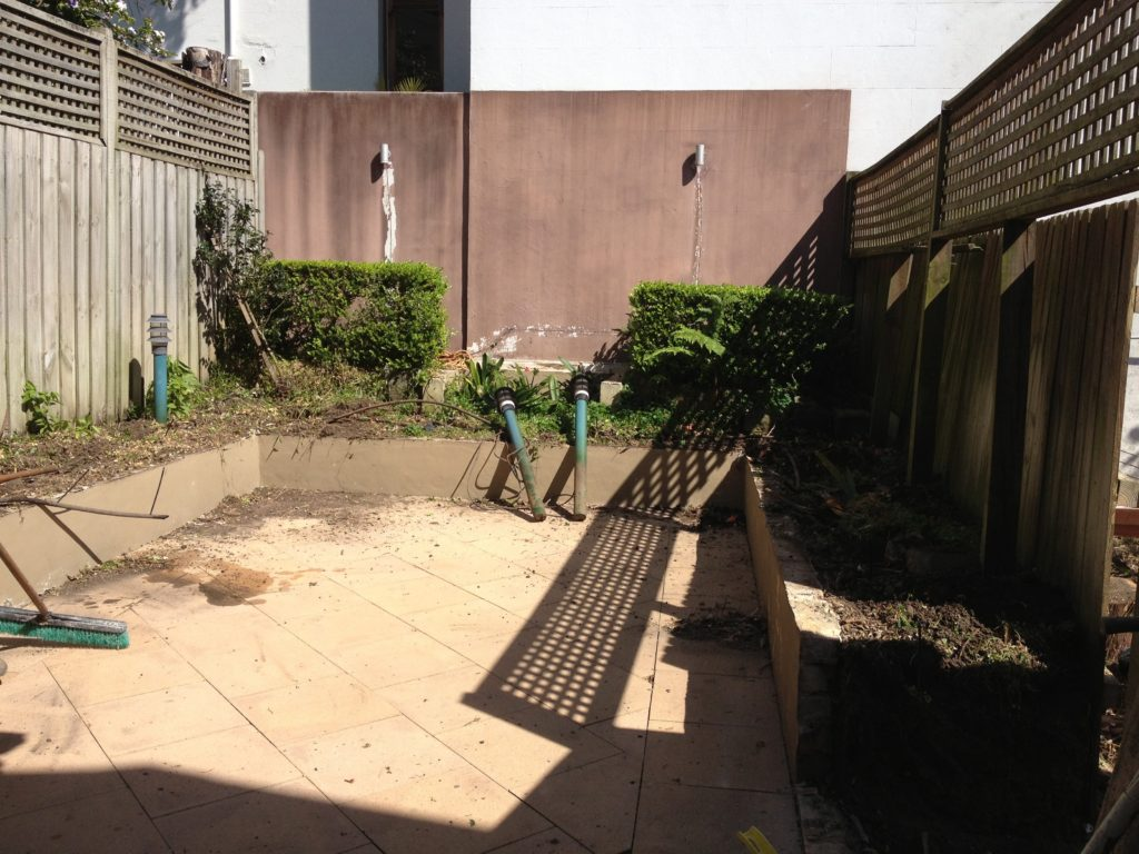 Courtyard renovation