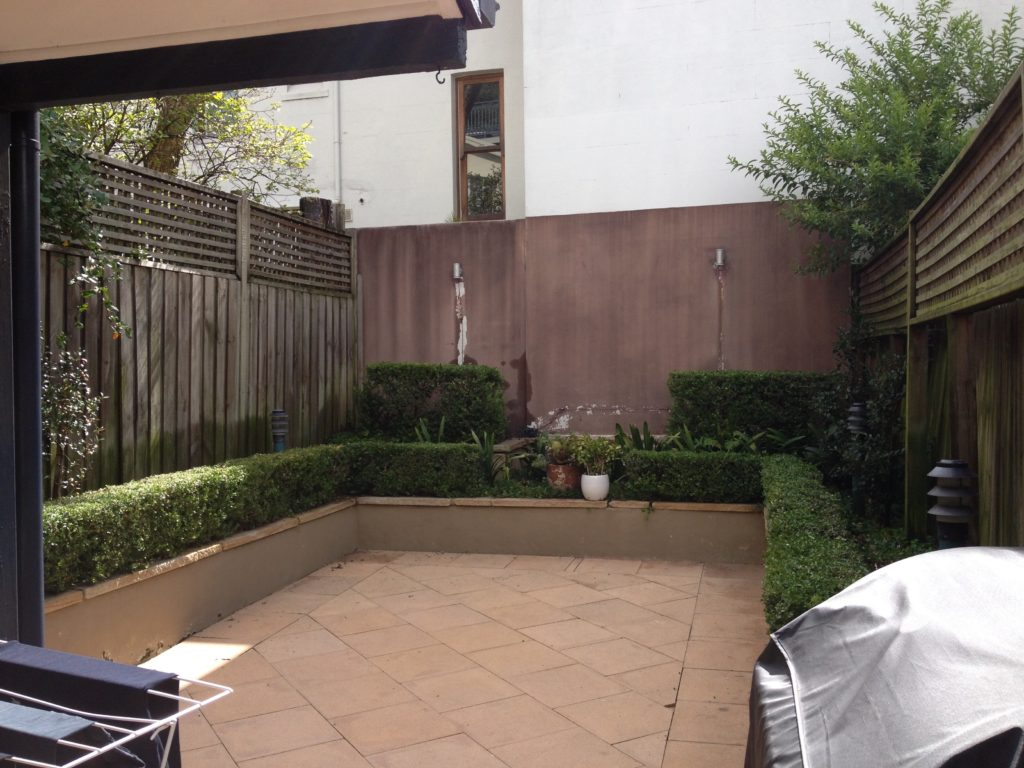 Courtyard before paddington home